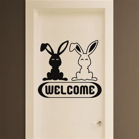 stickers carrelage cuisine 2867 sticker welcome lapins stickers citations anglais