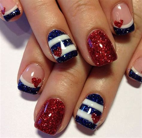 red acrylic 4th of july nils 15 fourth of july acrylic nail art designs ideas trends