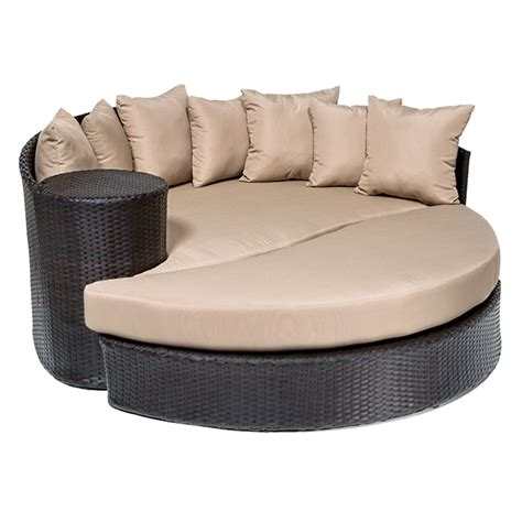 patio furniture bed zen circular sun bed outdoor wicker patio furniture 2