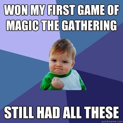 Magic The Gathering Memes - success kid memes quickmeme