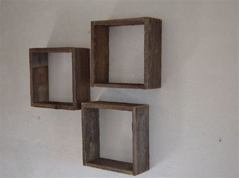 upcycled barnwood shadow boxes rustic wall decor