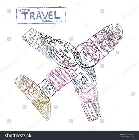 passport background pattern vector vector passport sts form airplane travel stock vector