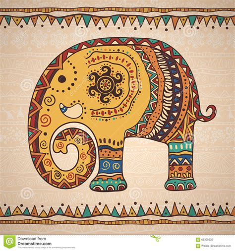 pattern making for the shapely african woman decorative illustration elephant stock vector image