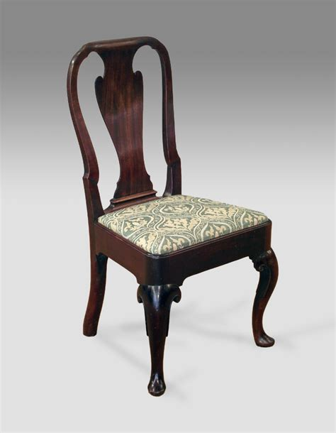 Antique cuban mahogany side chair georgian side chair georgain hall chair queen ann chair