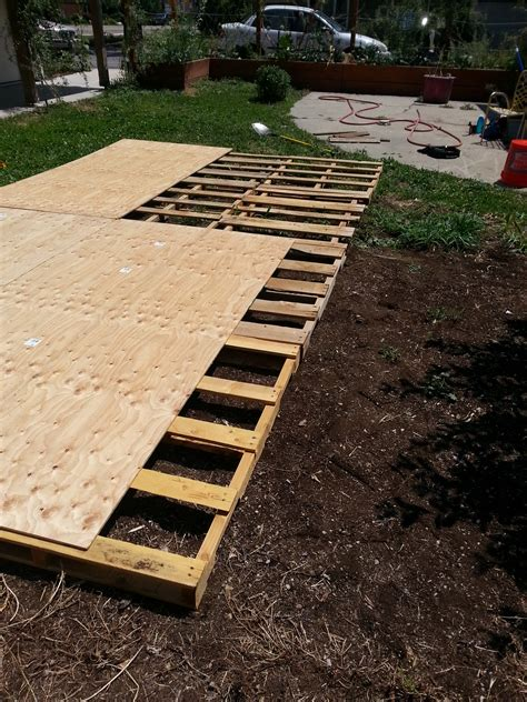 Backyard Wedding Floor by Creating A Floor From Recycled Pallets Our