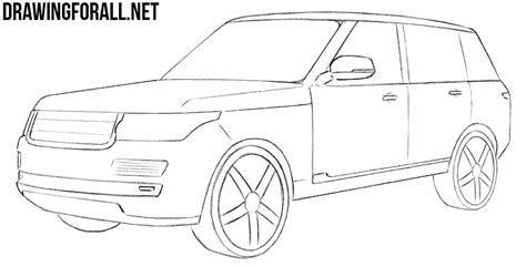 land rover drawing how to draw a range rover drawingforall net