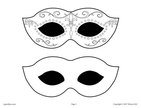 Free Printable Mardi Gras Mask Templates by Free Printable Mardi Gras Mask Template