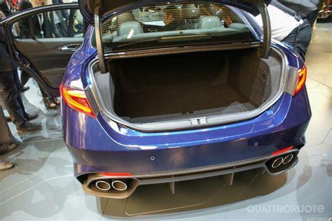 Size Of One Car Garage giulias boot trunk space alfa romeo giulia forum