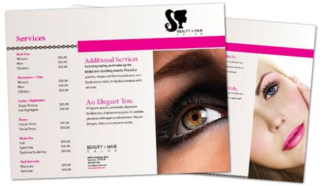 free templates for spa brochures hair salon brochure templates quotes