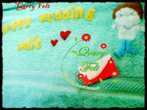 Handuk Buat Kado kado pernikahan handuk nama untuk sahabat