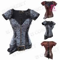 Discount Steampunk Clothing Women Outfit Zipper Bustier