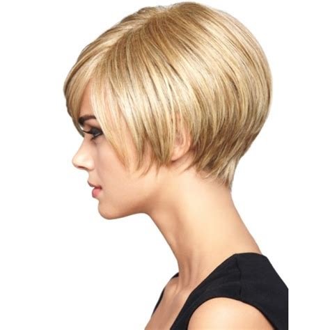 woman short layered bob wedged into neck cute short bob hairstyles for spring the model stage blog