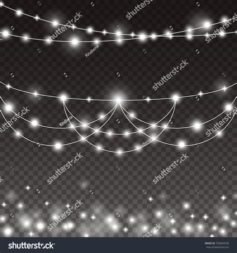 lights string bulbs isolated on transparent stock vector