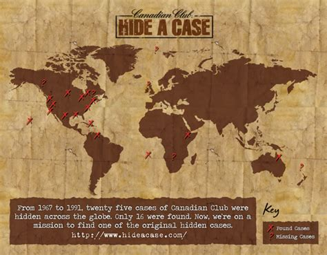 Canadian Sweepstakes Law - canadian club resurrects hide a case global treasure hunt thirsty in la