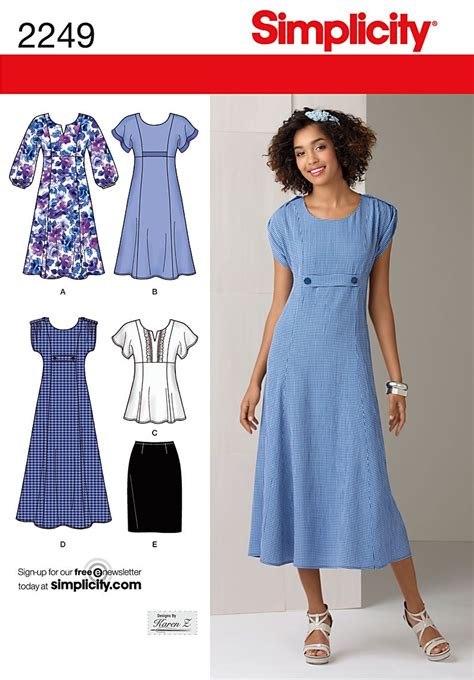 Simplicity 2249 Misses' & Plus Size Dresses sewing pattern