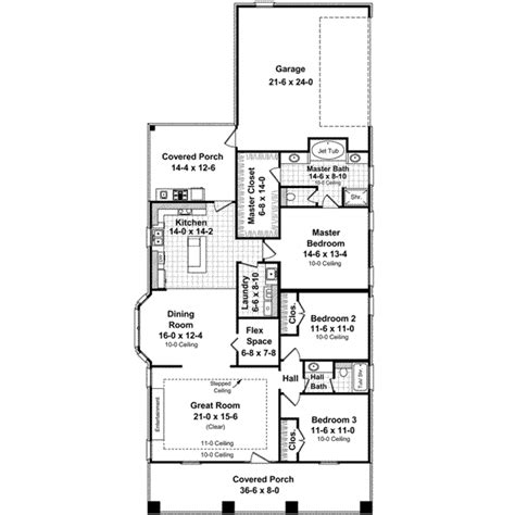 House Plans For Narrow Lots by Bungalow Style House Plans 1800 Square Foot Home 1