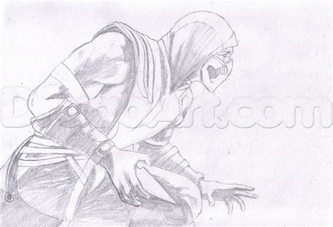 how to draw scorpion from mortal kombat x easy things to draw scorpion from mortal kombat x step by step drawing
