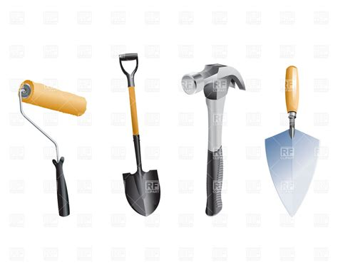 garden tools clip gardening tools objects royalty free vector