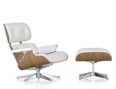 white chair and ottoman vitra eames lounge chair and ottoman white