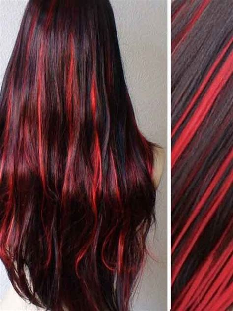 burgundy lights burgundy highlights in black clip in hair extensions