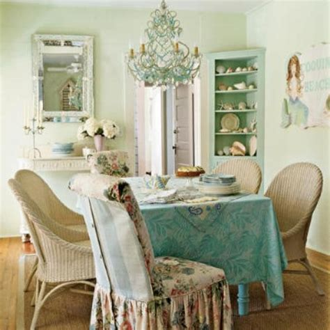 How To Make Slipcovers For Dining Room Chairs 39 Beautiful Shabby Chic Dining Room Design Ideas Digsdigs