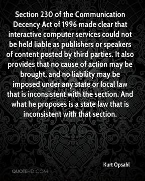 section 230 communications decency act acts of service quotes quotesgram