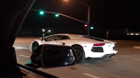 lamborghini vs lamborghini aventador vs mustang gt on the streets