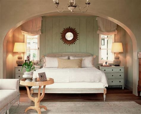 arched bedroom alcove cottage bedroom