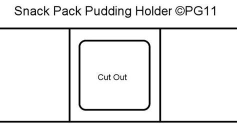 pudding card template pudding holder template i made paper craft templates by