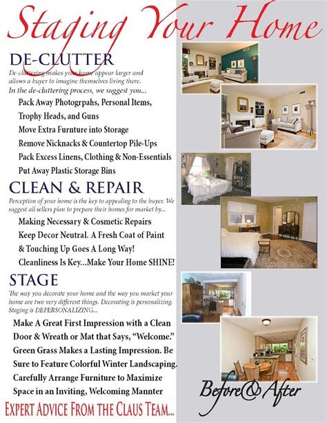 Re Location Matters Home Staging Is A Vital Part Of Marketing Your Property Home Staging Brochure Template