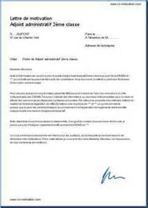 Présentation Lettre Administrative Concours Lettre De Motivation Adjoint Administratif