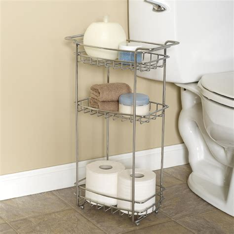 bathroom floor shelf slimline rolling organizer store bath supplies from kmart