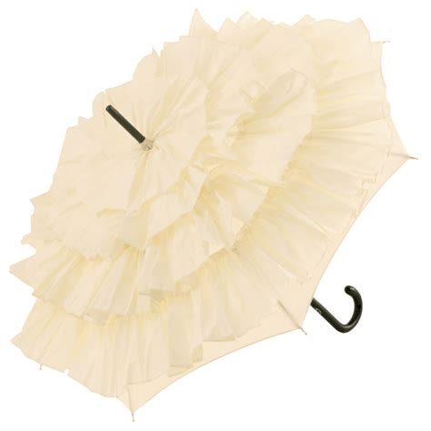 Umbrella Creme cancan parasol by de jean brolliesgalore