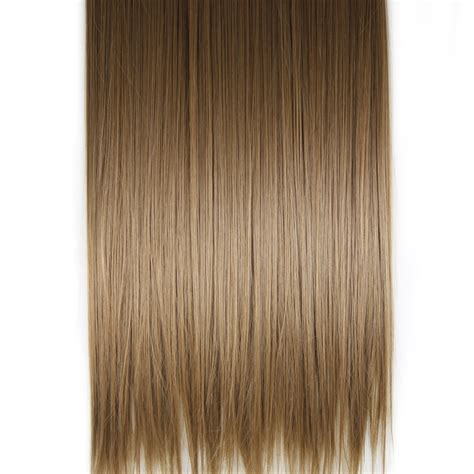 Light Brown Hair Extensions by Clip In Hair Extensions Themal Fibre 20 Quot 130g 8 Light