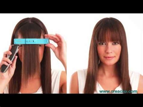 how to style your bangs or fringe to hide it as you grow how to cut bangs tutorial straight textured and side