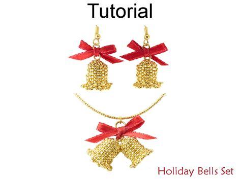 pattern for beaded christmas earrings beading tutorial pattern christmas holiday earrings