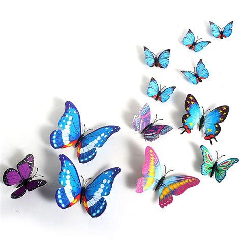 Paper Butterfly Wall Decor by 12pcs Creative Butterflies 3d Wall Stickers Pvc Removable