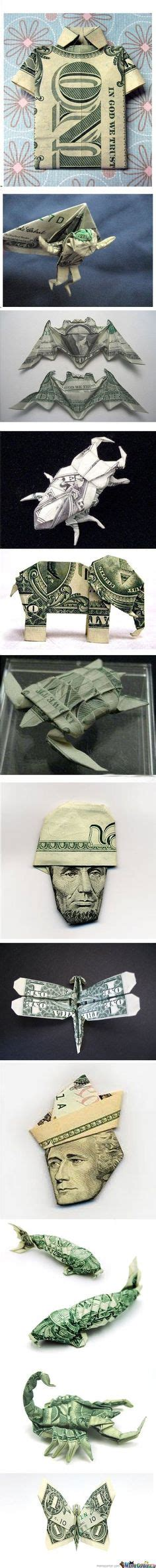 Creative Ways To Fold Paper - 1000 images about folding dollars into shapes on