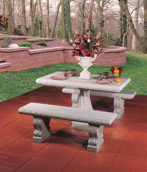 concrete tables and benches concrete tables and benches