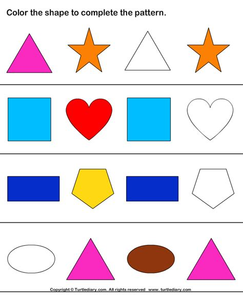 shape pattern problems free worksheets 187 pattern kindergarten free math