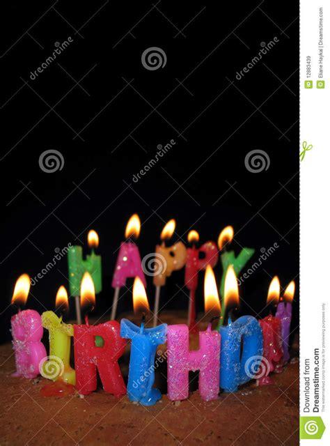 candele buon compleanno candele e torta di buon compleanno immagini stock libere