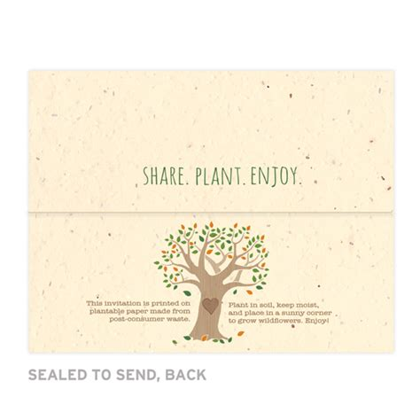 rustic send and seal wedding invitations rustic tree seal and send invitation seal and send