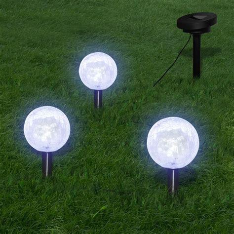 solar bowl 3 led garden lights with spike anchors solar