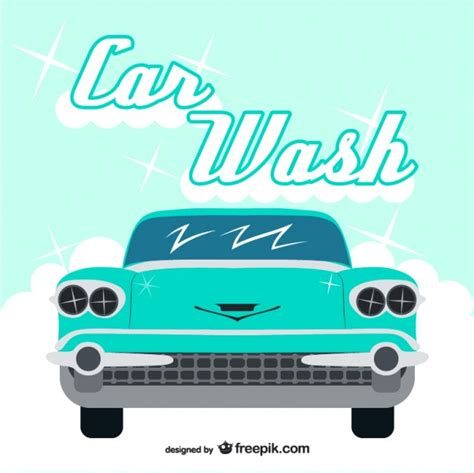 Vintage Car Wash Vector Vector Free Download Car Wash Logo Template Free