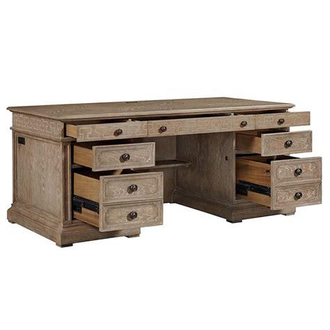 stanley furniture desk stanley furniture wethersfield estate executive desk in brimfield oak 518 15 03