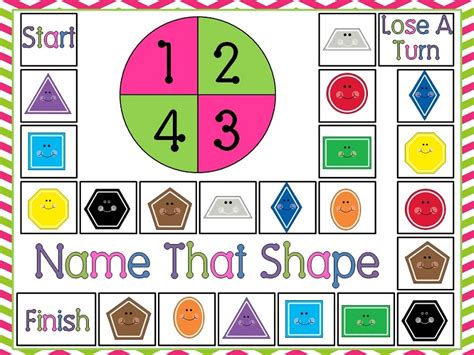 printable game board shapes down under teacher free 2d shapes game