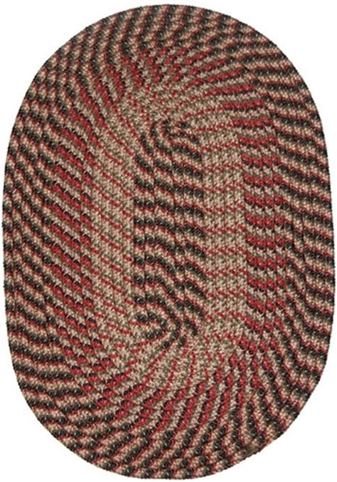 8 braided rugs plymouth 8 x 11 braided rug in country braid black