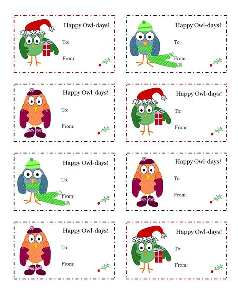 free printable owl gift tags happy owl days gift tags printable unlimited prints diy