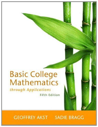 basic mathematics solutions manual ebook pdf basic college mathematics through applications 5th
