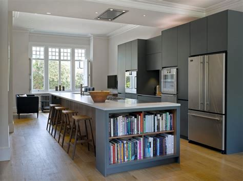 narrow kitchen islands transitional with barstools end of island bookshelf kitchen transitional with club